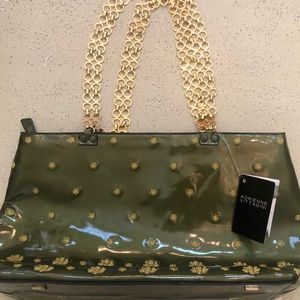 NWT Adrienne Vittadini Women's Olive/Gold Bag